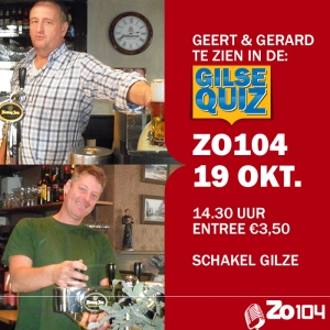 Geert en Gerard in de Gilse Quiz
