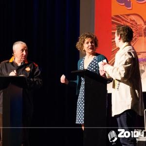 Kiske en Joan Hapers in de eerste Gilse Quiz op 23 feb. 2014.