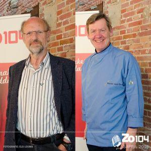 Prof.dr.ir. Arnold van Huis en kookdocent Henk van Gurp te gast bij Zo104. 3 april 2016