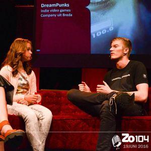 De oprichters van DreamPunks te gast bij Zo104 Kids op 19 juni 2016.