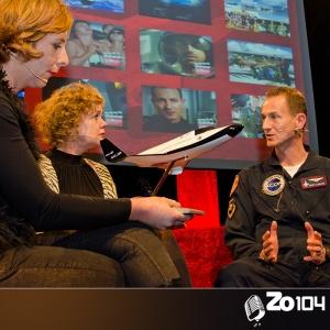 Harry van Hulten, Experimental Test Pilot bij XCOR Space Expeditions , gast bij Zo104 op 30 nov. 2014.