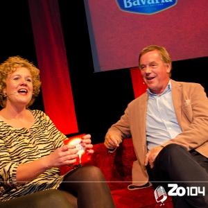 Peter Swinkels, voormalig bestuursvoorzitter van brouwerij Bavaria, te gast bij Zo104 op 19 okt. 2014.