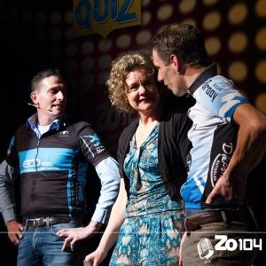 Joris van Dongen en Erik Hoevenaars in de Gilse Quiz van Zo104 op 23 mrt. 2014.