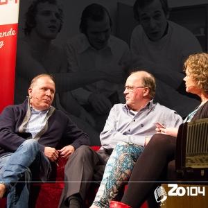 Willy en René van de Kerkhof, ex prof voetballers, te gast op 23 mrt. 2014.