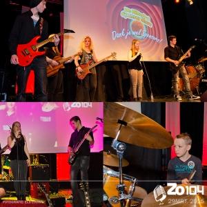 Middle Of Nowher uit de popworkshop van Adjan Emmen bij Zo104 op het grote podium.