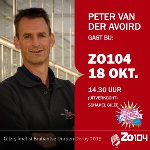peter van der avoird bij Zo104 te gast