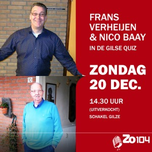 Frans en Nico in de Gilse Quiz