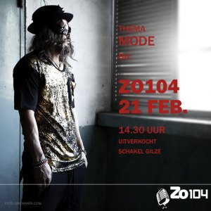 Zo104 show 21 feb. uitverkocht