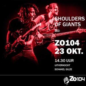 Shoulders of Giants live bij Zo104