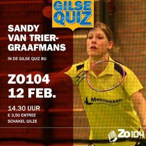 Sandy van Trier in GilseQuiz